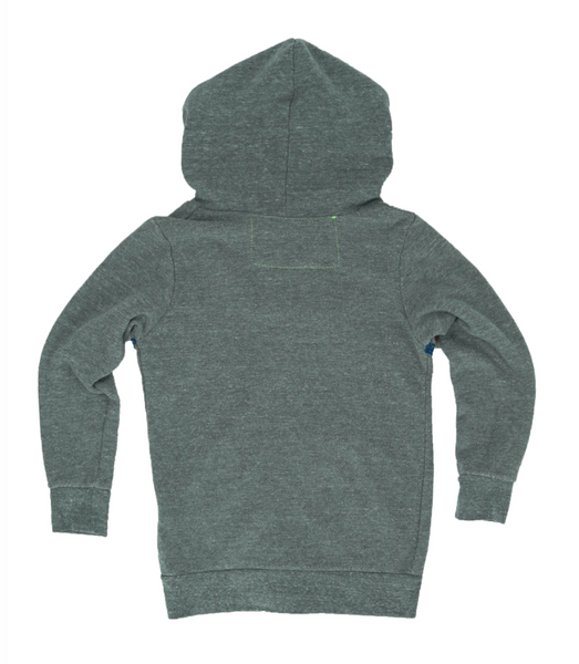 Kid's 5 Stripe Hoodie - Heather Grey
