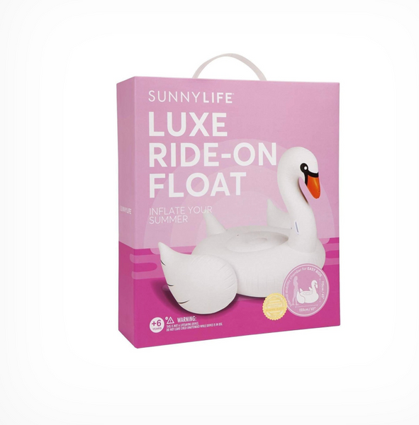 LUXE RIDE-ON FLOAT SWAN