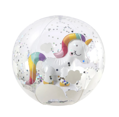 3D INFLATABLE BEACH BALL | UNICORN