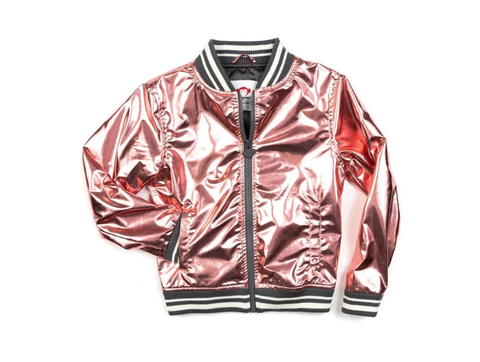 Nikki Bomber Jacket Rose Gold