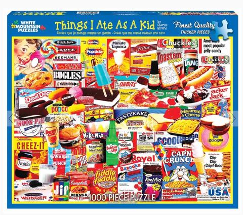 Things I Ate As A Kid (1110pz) - 1000 Piece Jigsaw Puzzle