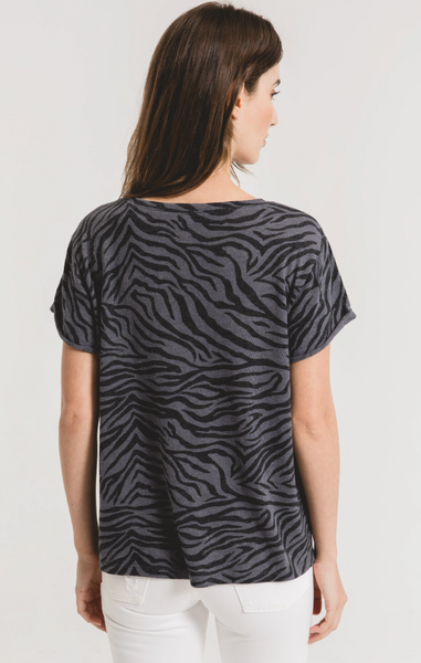 Zebra Scoop Neck Tee - Z Supply