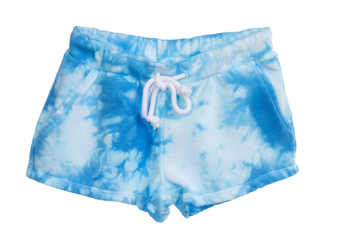 KATIEJNYC Blue and White Tie Dye Shorts