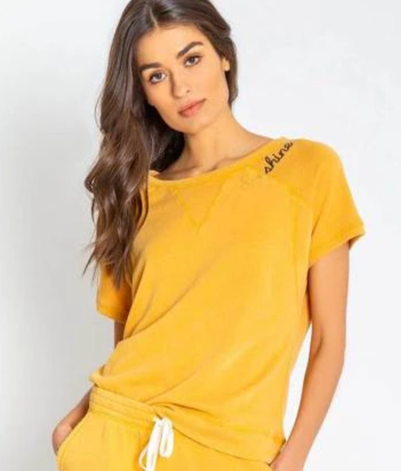 Embroidered Sunshine Top - Gold