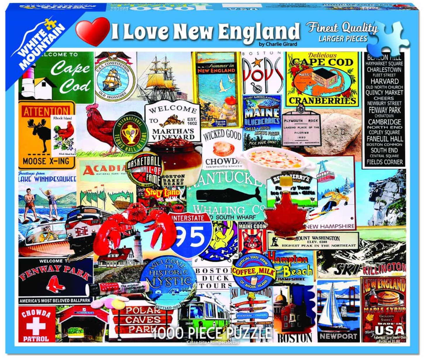 I Love New England (1144pz) - 1000 Piece Jigsaw Puzzle