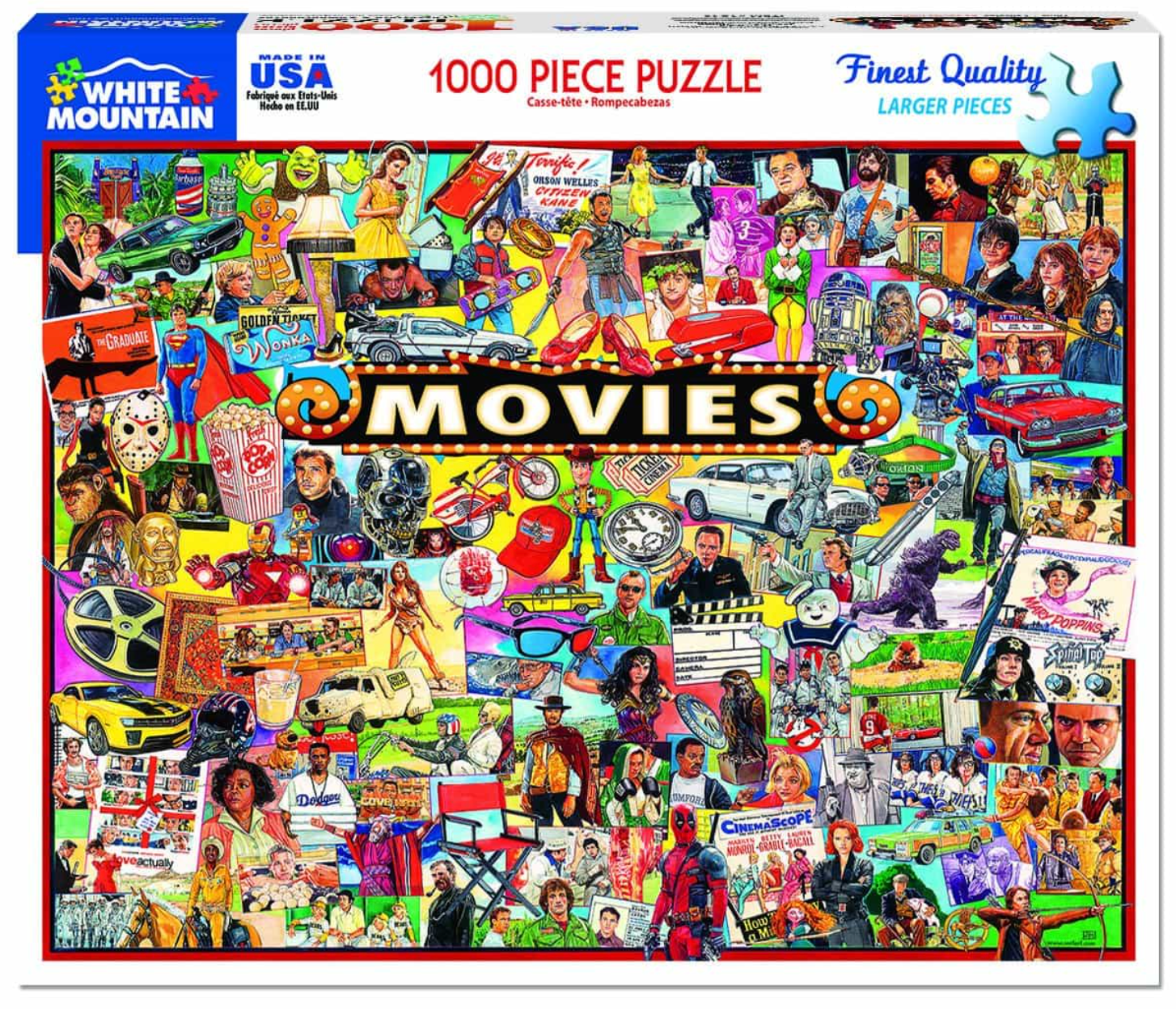 The Movies (1338pz) - 1000 Piece Jigsaw Puzzle