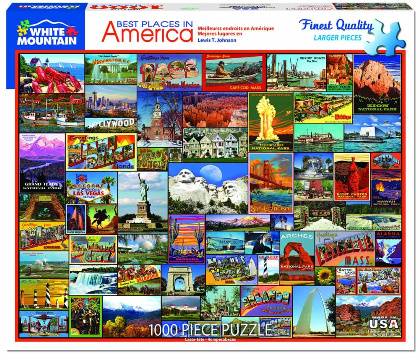 Best Places in America (1119pz) - 1000 Piece Jigsaw Puzzle