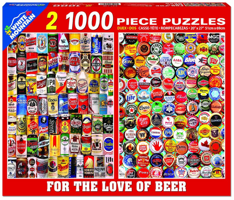 For The Love Of Beer (1164pz) - 1000 Piece Jigsaw Puzzle