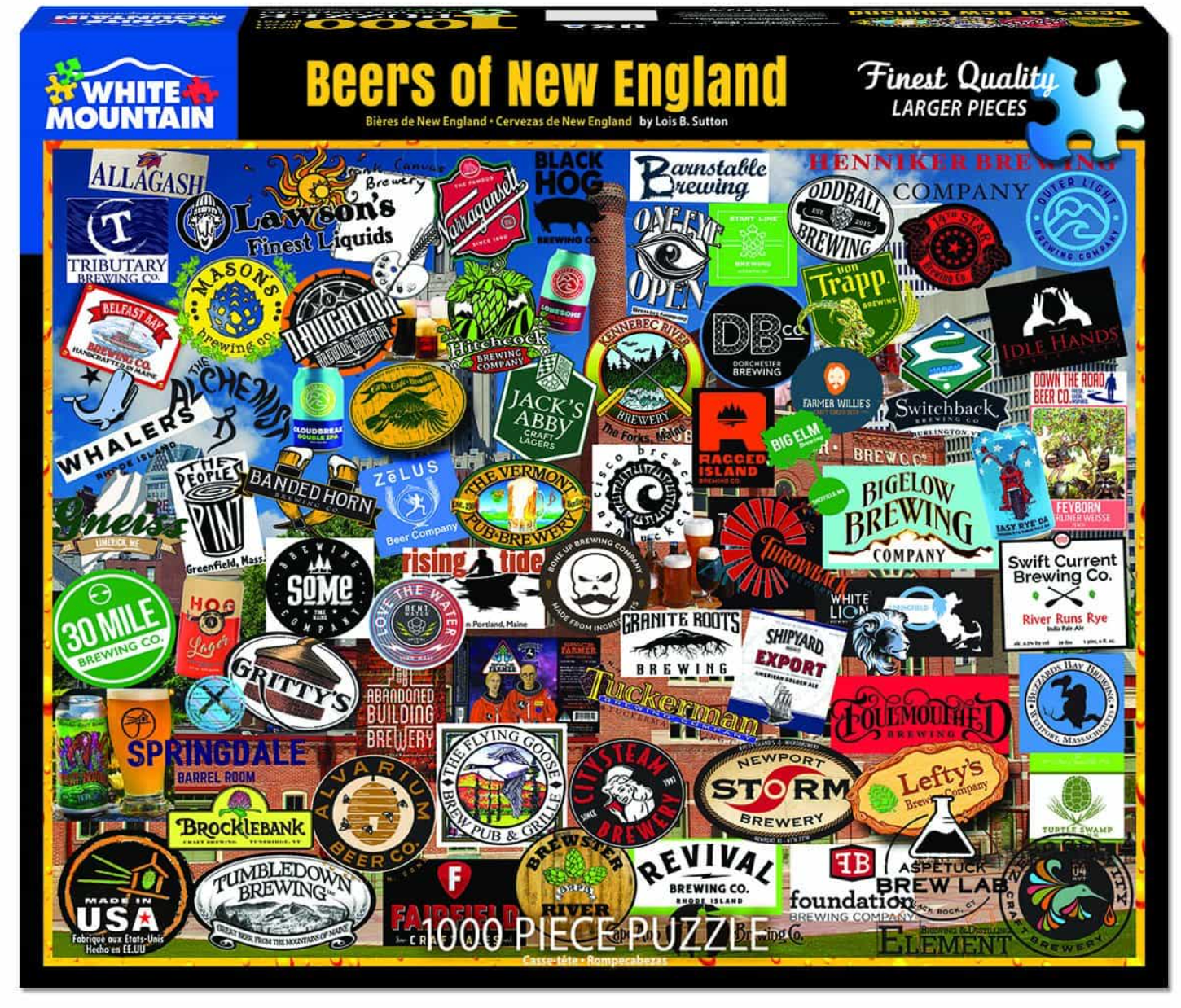 Beers of New England (1378pz) - 1000 Piece Jigsaw Puzzle
