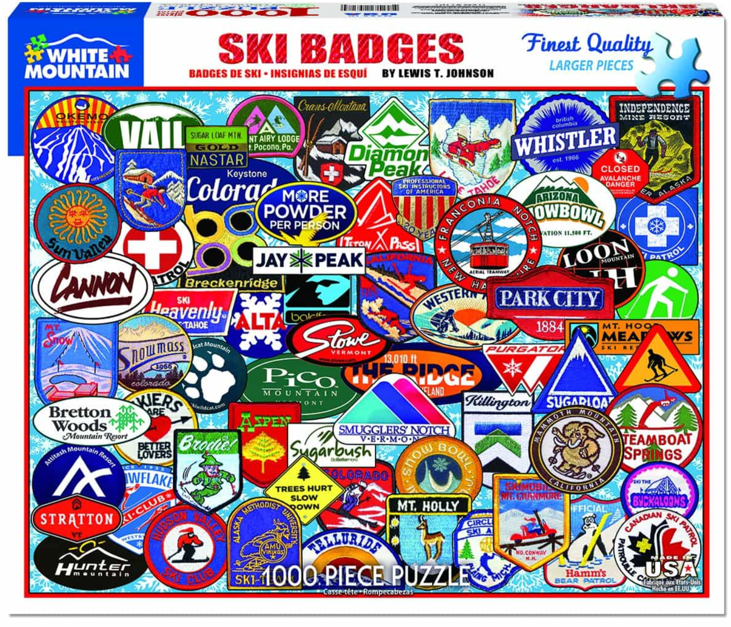Ski Badges (1191pz) - 1000 Piece Jigsaw Puzzle