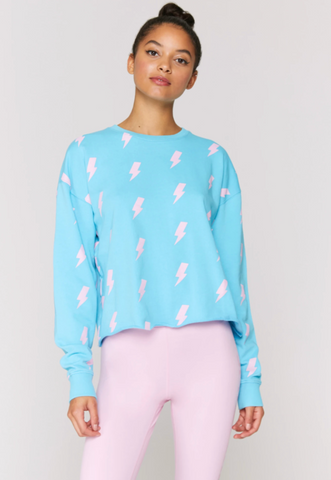 Lightning Mazzy Crop Sweatshirt