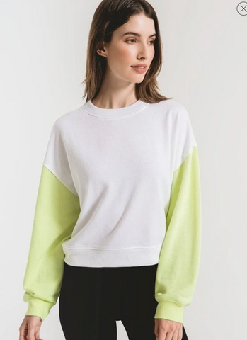 Colorblock Neon Sleeve Sweatshirt – Z SUPPLY