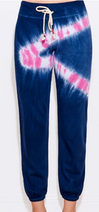 Navy Candy Tie Dye Basic Sweatpants