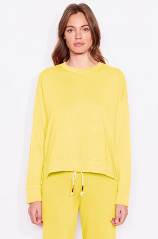 Citron Hi Low Crew Neck
