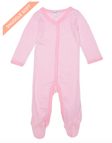 Splendid Baby Footed Coverall Pink Striped