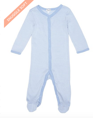 Splendid Baby Footed Coverall Blue Striped