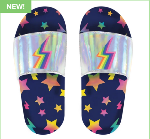 stars and lightning holographic slides