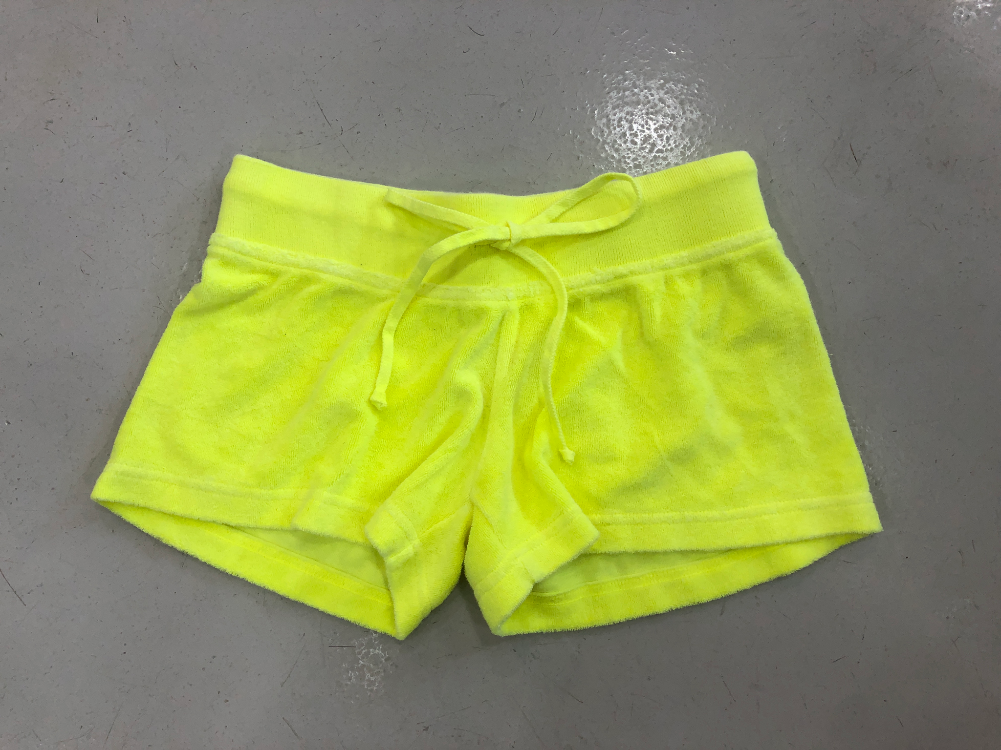 Hard Tail Terry Shorts - Neon Yellow