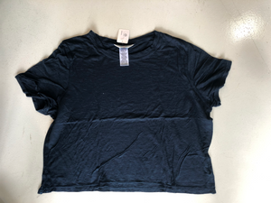 Hard Tail Crop Tee - Navy