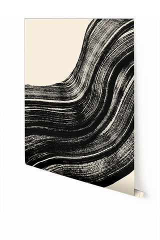 Wallpaper : Sediment #4© // Black + Ecru