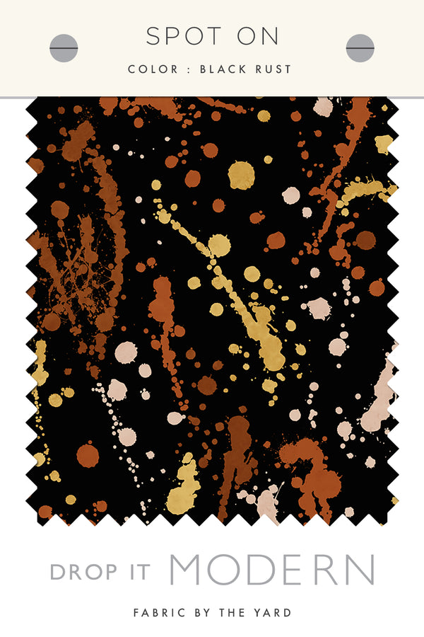 Fabric by the yard : Spot On© // Black Rust