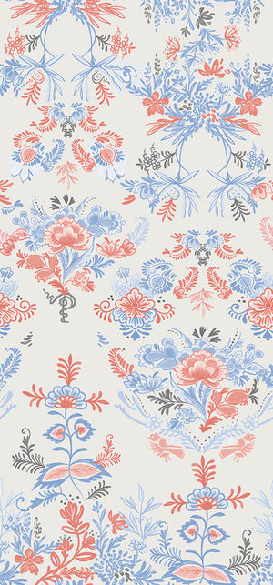 Fabric by the yard : Delft© // Multicolor