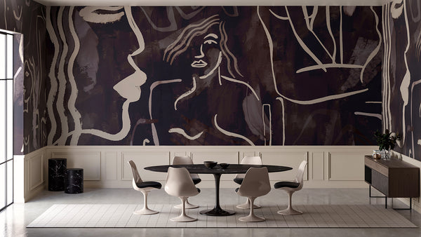 Wallpaper : Famke© Mural // Charcoal