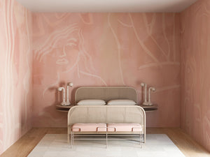 Wallpaper : Famke© Mural // Rose Pink