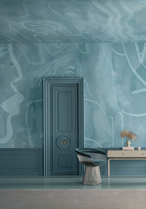 Wallpaper : Famke© Mural // Lapis Blue