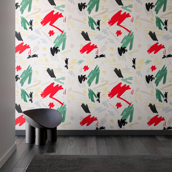 Wallpaper : Hieroglyphics© Mural // Eames
