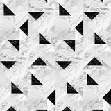 Fabric by the yard : Marble© // Black + White