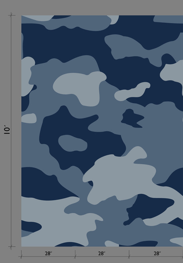 Wallpaper : Camo© Mural // Navy