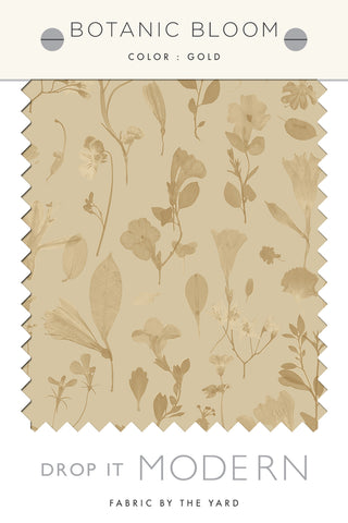 Fabric by the yard : Botanic Bloom© // Gold