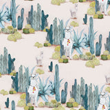 Fabric by the yard : Desert Llama© // Cactus
