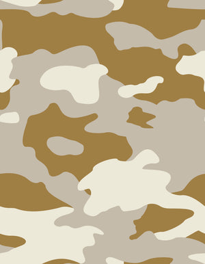 Fabric by the yard : Camo© // Desert