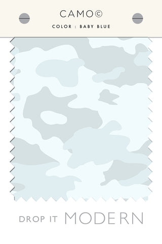 Fabric by the yard : Camo© // Baby Blue