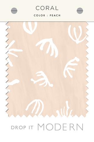 Fabric by the yard : Coral© // Peach