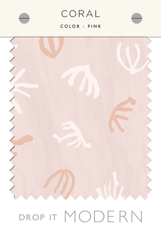 Fabric by the yard : Coral© // Pink