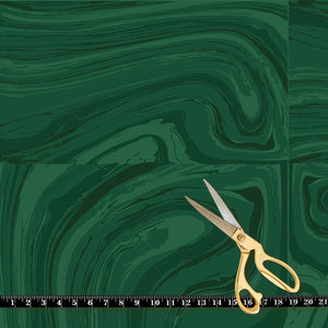 Fabric by the yard : Crystalline© // Green