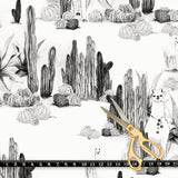 Fabric by the yard : Desert Llama© // Black + White