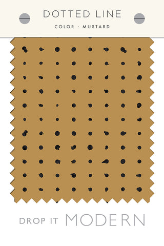Fabric by the yard : Dotted Line© // Mustard