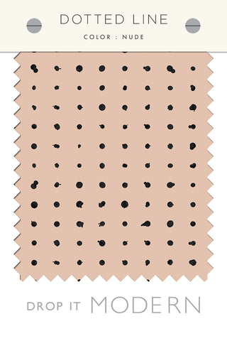 Fabric by the yard : Dotted Line© // Nude