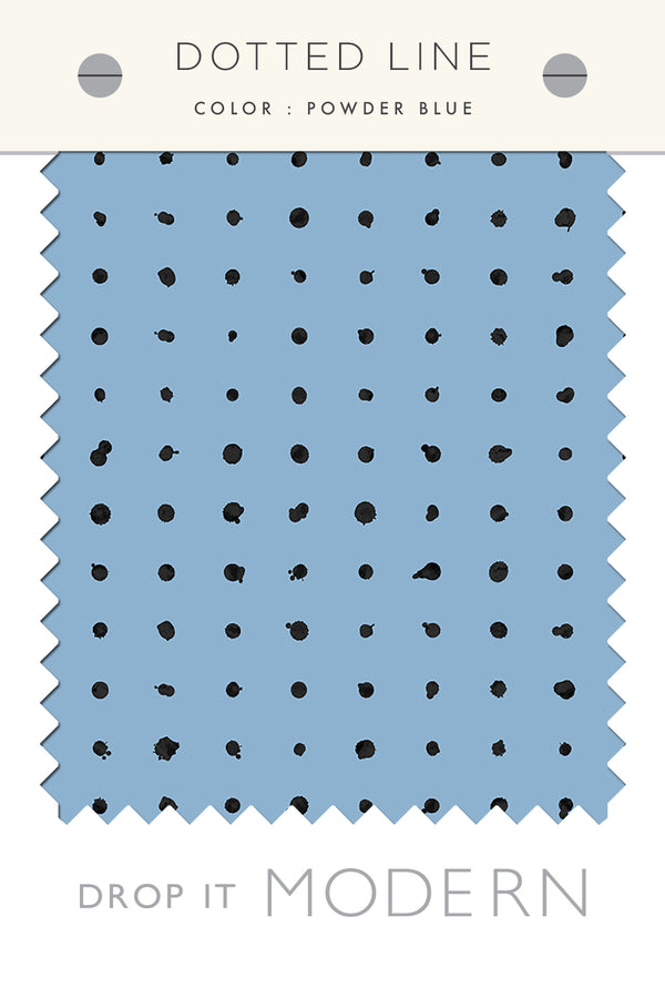 Fabric by the yard : Dotted Line© // Powder Blue
