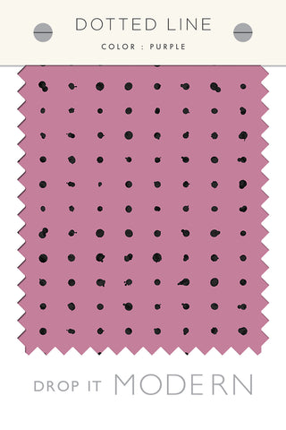 Fabric by the yard : Dotted Line© // Purple