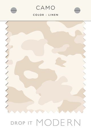 Fabric by the yard : Camo© // Linen