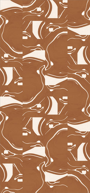 Fabric by the yard : Magma© // Rust + Creme