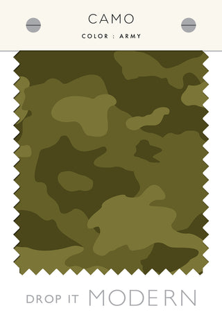Fabric by the yard : Camo© // Army