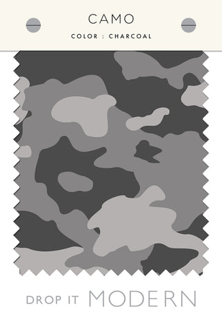 Fabric by the yard : Camo© // Charcoal