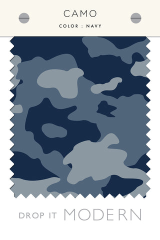 Fabric by the yard : Camo© // Navy