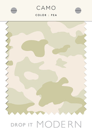 Fabric by the yard : Camo© // Pea